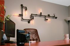 Hey, I found this really awesome Etsy listing at https://www.etsy.com/listing/161484492/industrial-steampunk-pipe-wall-light