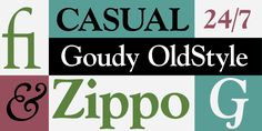 Goudy Old Style™ - Desktop font « MyFonts