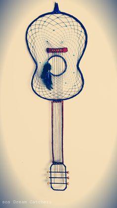 Acoustic Guitar Dream Catcher, by SOS Dream Catchers.
