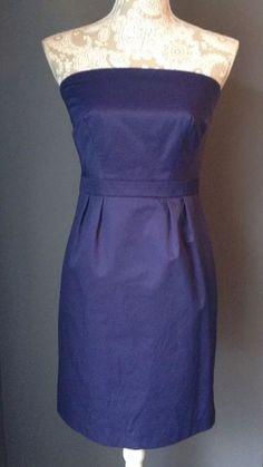 Limited Edition Brand Strapless Indigo Blue Satin Mini Cocktail Dress Sz 4 Small | eBay
