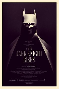 "Dark Knight Rises Poster by Olly Moss    Olly Moss is a UK based artist who has a portfolio that reads like a who's who list in the entertainment and technology worlds. He's done work for Apple, Levis, Time Magazine and now he has released a poster for the latest Batman film, The Dark Knight Rises. The 16""x24"" prints went on sale at 12:01 AM Central time on July 18th at the Mondo online shop for $40 and were available for 24 hours."