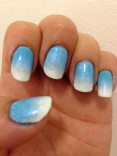 Spring nails - cnd shellac white with blue additive and purple glitter additive Shellac Nail Designs, Shellac Nail Art, Nails Design, Purple Glitter, Glitter Nails, Shellac Nails, Spring Nails, Nails Inspiration, Pink