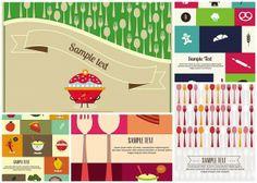 Cartoon food background set vector - Free Download - CGIspread