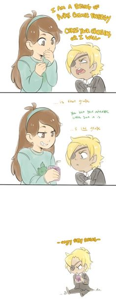 Mabel Pines and Bill Cipher