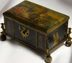 An 18th Century Neoclassical Marble Painted and Ormolu Mounted Box | From a unique collection of antique and modern decorative boxes at http://www.1stdibs.com/furniture/more-furniture-collectibles/decorative-boxes/
