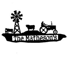 Custom Metal Farm Sign with Tractor (H0) Rusty Rooster Metal $115.67, http://www.amazon.com/dp/B005YPEQ56/ref=cm_sw_r_pi_dp_Ch2Psb17AB0314EY
