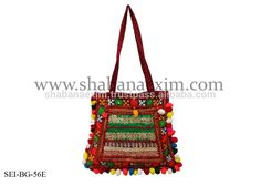 Check out this product on Alibaba.com APP Patch bags women shoulder ethnic bohemian tote with pom-poms new mirror handbags