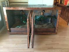 Red Oak Reptile Enclosure - Made by Todd Becker with High Scale Reptiles