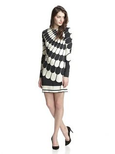 JB by Julie Brown Women's Morgan Shift Dress (Black Italia)