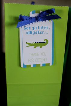 Alligator Birthday Party Thank You Favor Tags DIY PRINTABLE PDF on Etsy, $8.00