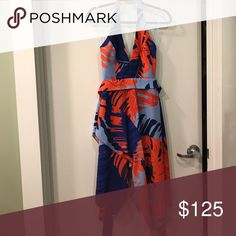 N Nicholas palm print crepe dress MAKE AN OFFER Beautiful and perfect dress.  I'm a 34b with a 29 waist and the 2 (actual size) just wouldn't zip above my waist.  Would probably fit someone smaller with any size bust.  If this fit me I would be keeping it.  Truly a work of art.  Bought from barneys.  I'd say the 2 is more of a 0 or 00 I believe this is Australian sizing.  Dress is kind of preppy and my style leans towards kate spade, lilly Pulitzer, and draper James and I think this is a New…