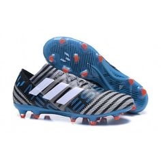 Acquista|miglior prezzo|Adidas Nemeziz Messi 17.1 Agility FG Grey bianca Core Nero - Adidas Nemeziz 17 (Adidas Nike scarpe da calcio in vendita - scarpecalcioit.com) Football Shoes, Soccer Shoes, Messi, Cheap Soccer Cleats, Blue Gold, Sport, Shoes Online, Adidas Sneakers, Nike