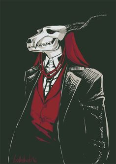 """bathsheb: """" Elias Ainsworth I wanted to draw him for so long! And finally did it! I need more fanarts for this manga > Manga Kawaii, Manga Anime, Anime Art, Anime Boys, Chise Hatori, Elias Ainsworth, Character Art, Character Design, The Garden Of Words"""