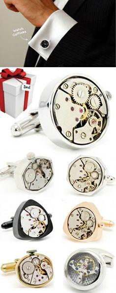 Cufflinks -- Beour Jewelry | Men Vintage Steampunk Cufflinks Functioning Works Watch Movements in Working Condition 45 style  $28.00 www.beour.com/watch-cufflinks-392.html