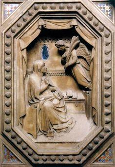 Orsanmichele Chiesa e Museo - Firenze -Orcagna  - Tabernacolo (dettaglio) - 1359 - marmo