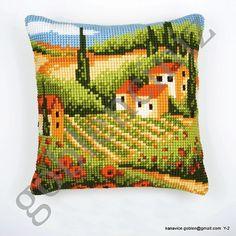 Pillow cross stitch pdf pattern. Instant by kanavicegoblen on Etsy