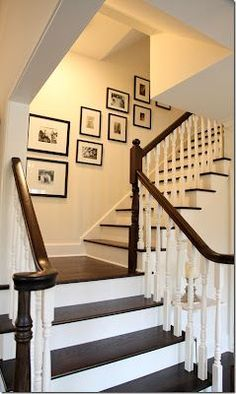 stairways...I love the light paint color with the 'espresso' color wood...