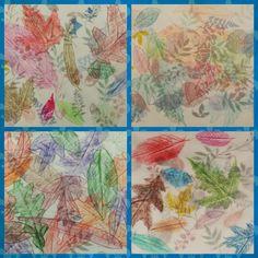 Angela Anderson Art Blog: Layered Vellum Leaf Rubbing - Kids Art Class
