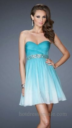 Blue Short Homecoming Dresses