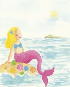 Mermaid Print by Clara Almeida at Art.com