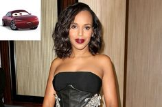 Kerry Washington Is a 'Super-Smarty-Pants' Red Sports Car in Cars 3 First Look Red Sports Car, Kerry Washington, Disney Films, Nathan Fillion, Booty, Smarty Pants, Cars, Women, Fashion