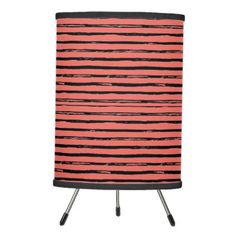cute hipster trendy stripes modern pattern tripod lamp - patterns pattern special unique design gift idea diy