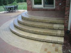 paver patio steps | these after pictures of the brick paver patio steps & porch steps ...
