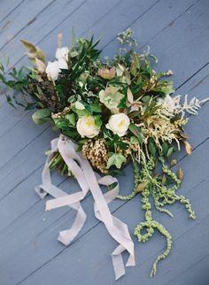 Neutral Garden Wedding Ideas via oncewed.com