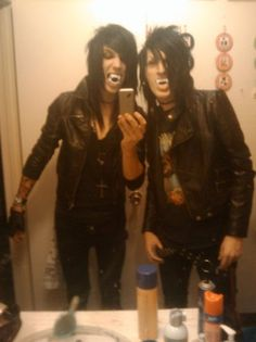Jake and Jinxx, I believe. <3 Vampires + BVB = PERFECTION ^^^^ yes.. that is 100% accurate.