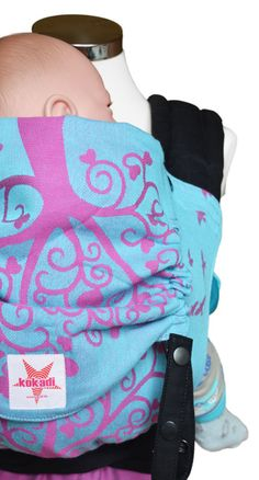 kokadi TaiTai - the baby carrier made of the original fabric of our wraps with a hip belt to buckle and shoulder straps to tie. (Halfbuckle)