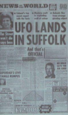 LISTEN: To US commander investigate 'UFO attack' at 'Rendlesham' in 35-year-old…