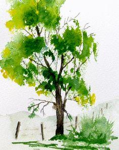 Jim's Watercolor Gallery, Oak Tree tutorial