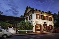 Sofitel Luang Prabang hotel in Laos - prison turned luxury hotel Luang Prabang, Laos, Angkor, Roof Design, House Design, Bungalow, Filipino Architecture, Jardin Luxuriant, Riverside Hotel