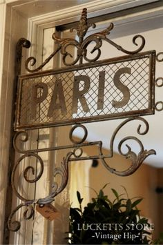 Paris corner sign  Have it, Love it! mustard seed, decor, metal pari, paris, corner sign, pari sign, pari corner, vintag sign, luckett store