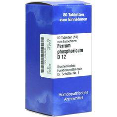 BIOCHEMIE 3 Ferrum phosphoricum D 12 Tabletten:   Packungsinhalt: 80 St Tabletten PZN: 00545283 Hersteller: ISO-Arzneimittel GmbH & Co.…