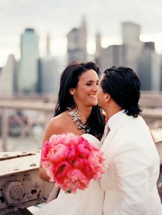 Photography by Robert Sukrachand, www.sukrachand.com      #photoshoot #postwedding #nyc #skyline #peonies #pink #wedding #weddingstyle #style #styling #eventus