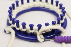 Knit Stitches on the Loom; regular, flat, U-knit & e-wrap