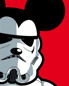When two Disney moneymakers collide...Mickey Mouse Stormtrooper Pop Art.  #starwars