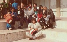"""Festa in maschera, anni settanta. Istituto Statale d'Arte """"Stagio Stagi"""" Pietrasanta."""