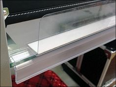 Glass Shelf Label and Productstop Combined Glass Shelves, Shelving, Shelf, Label, Shelves, Glass Display Shelves, Glass Shelving Unit, Shelving Units, Shelving Units