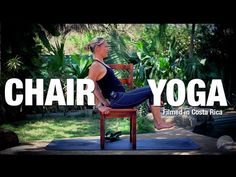 Easy Chair Yoga Class - 25 minutes - Five Parks Yoga - YouTube