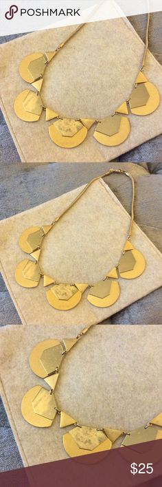 """Madewell Two Tone Necklace Geometric two tone necklace from Madewell.  20"""" long. Shiny and matte brass.  Some oxidizing has happened which gives it a nice patina and naturally occurs with brass over time. Madewell Jewelry Necklaces"""