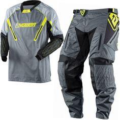 2018 Answer Taiga XC Enduro Kit Combo - Grey Hi Viz Enduro Motorcycle, Motorcycle Jacket, Motocross Kit, Body Heat, Grey, Tools, Adventure, Ash, Gray