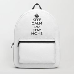 Keep calm and stay home Backpack by mariauusivirtadesign D Craft, Designer Backpacks, Keep Calm, One Size Fits All, Fashion Backpack, Laptop, Handle, Construction, Artists