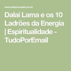 Dalai Lama e os 10 Ladrões da Energia | Espiritualidade - TudoPorEmail