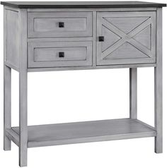 Give your home a rustic vibe with the Gallerie Decor Framingham Farmhouse Console Table . This console table features a sturdy wood construction in your. Traditional Console Tables, Traditional Furniture, Loft Furniture, Furniture Making, Weathered Oak, Low Shelves, Sofa Tables, Trends, Wood Construction