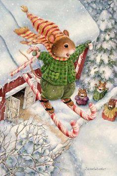 Holly Pond Hill, Rabbit. Susan Wheeler RARE modern postcard