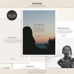6x8 Minimalist Photo Templates by paislee press