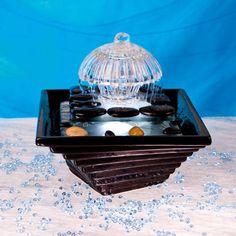 Zen Brunnen Seon mit weißer LED Beleuchtung Zimmerbrunnen A102891