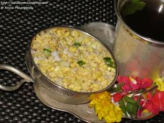 Vada Pappu or Kosambari is a light salad made with Moong Dal, Cucumber and Grated Coconut. A must-have for Sree Rama Navami
